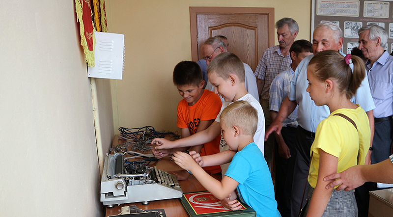 в музей пришли уже внуки бывших работников